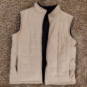 Reversible XL tan / black vest